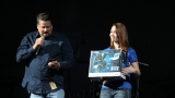Kevin &amp; Caryn give away a record player