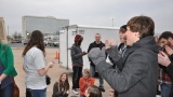 Hawk Nelson choosing some fans to enter the concert early!