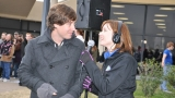 Caryn interviewing Daniel from Hawk Nelson