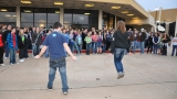 Another jump rope contest at Rock and Worship Roadshow. Winner got a free ticket!