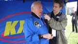 Eric interviewing Astronaut Buzz Aldrin
