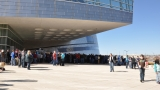 The line outside the BOK center
