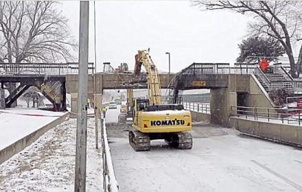 bridge going down