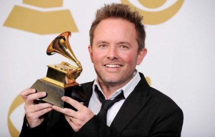 "LOS ANGELES, CA - FEBRUARY 12:  Chris Tomlin, winner of the GRAMMY for Best Contemporary Christian Music Album in ""And If Our God Is for Us...."",  poses in the press room at the 54th Annual GRAMMY Awards at Staples Center on February 12, 2012 in Los Angeles, California.  (Photo by Kevork Djansezian/Getty Images)"