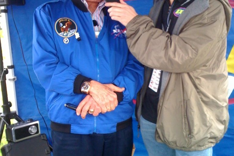 Eric interviewing Astronaut Buzz Aldrin