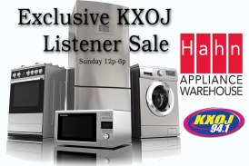 Hahn Appliance – KXOJ Listener Sale
