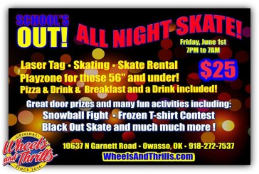 All-Night Skate at Wheels and Thrills