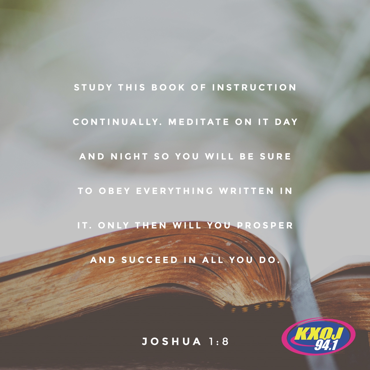 August 8th - Joshua 1:8