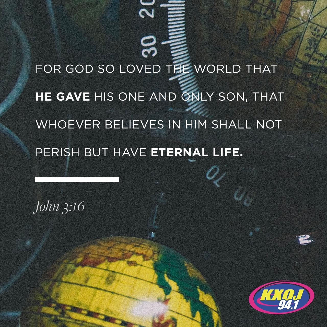 August 2nd - John 3:16