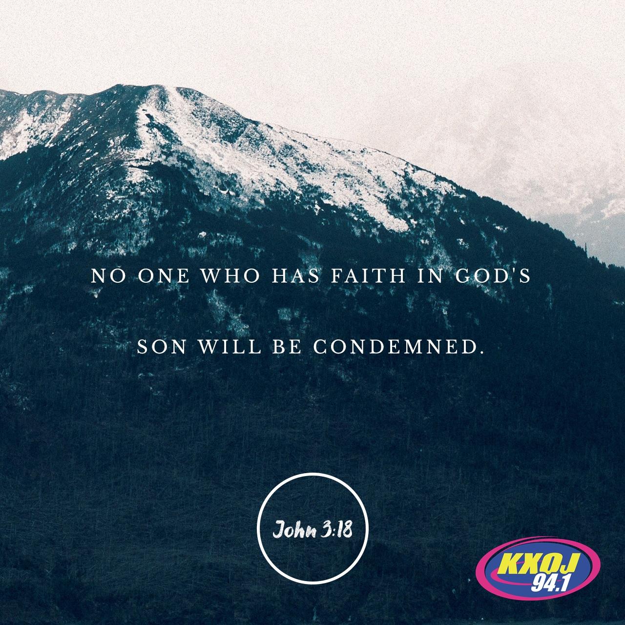 August 3rd - John 3:18