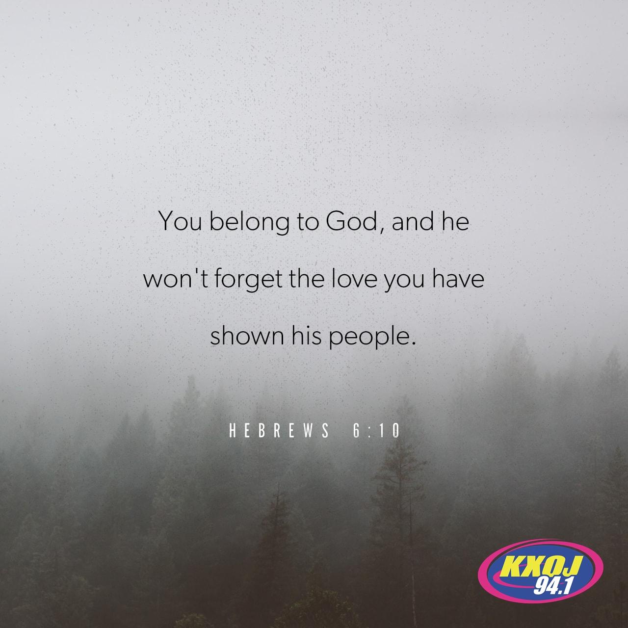 September 21st - Hebrews 6:10
