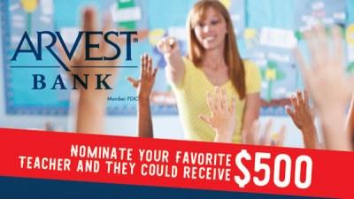 Arvest Bank We Love Oklahoma Teachers