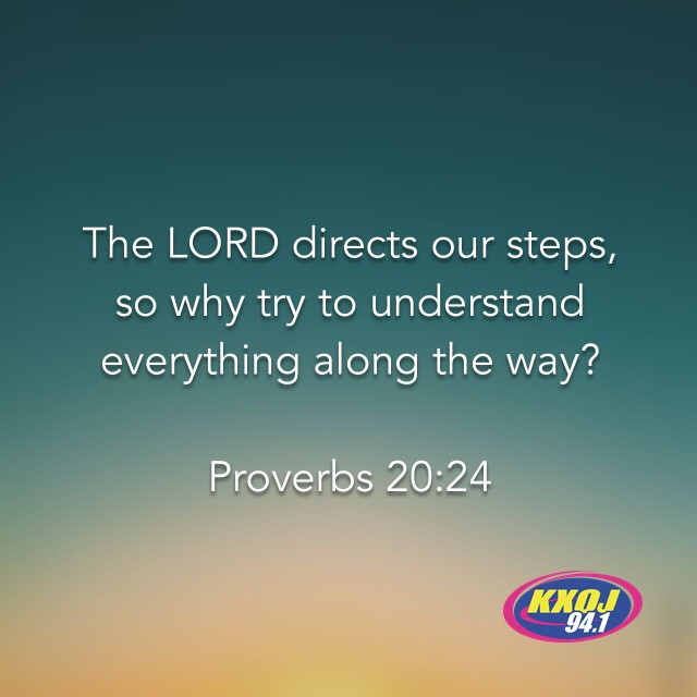 February 26th - Proverbs 20:24