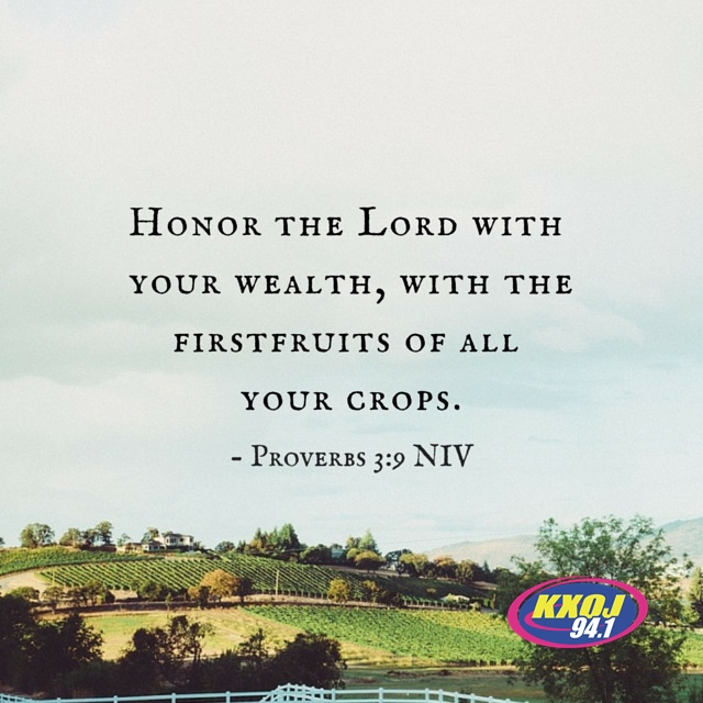 February 19th - Proverbs 3:9