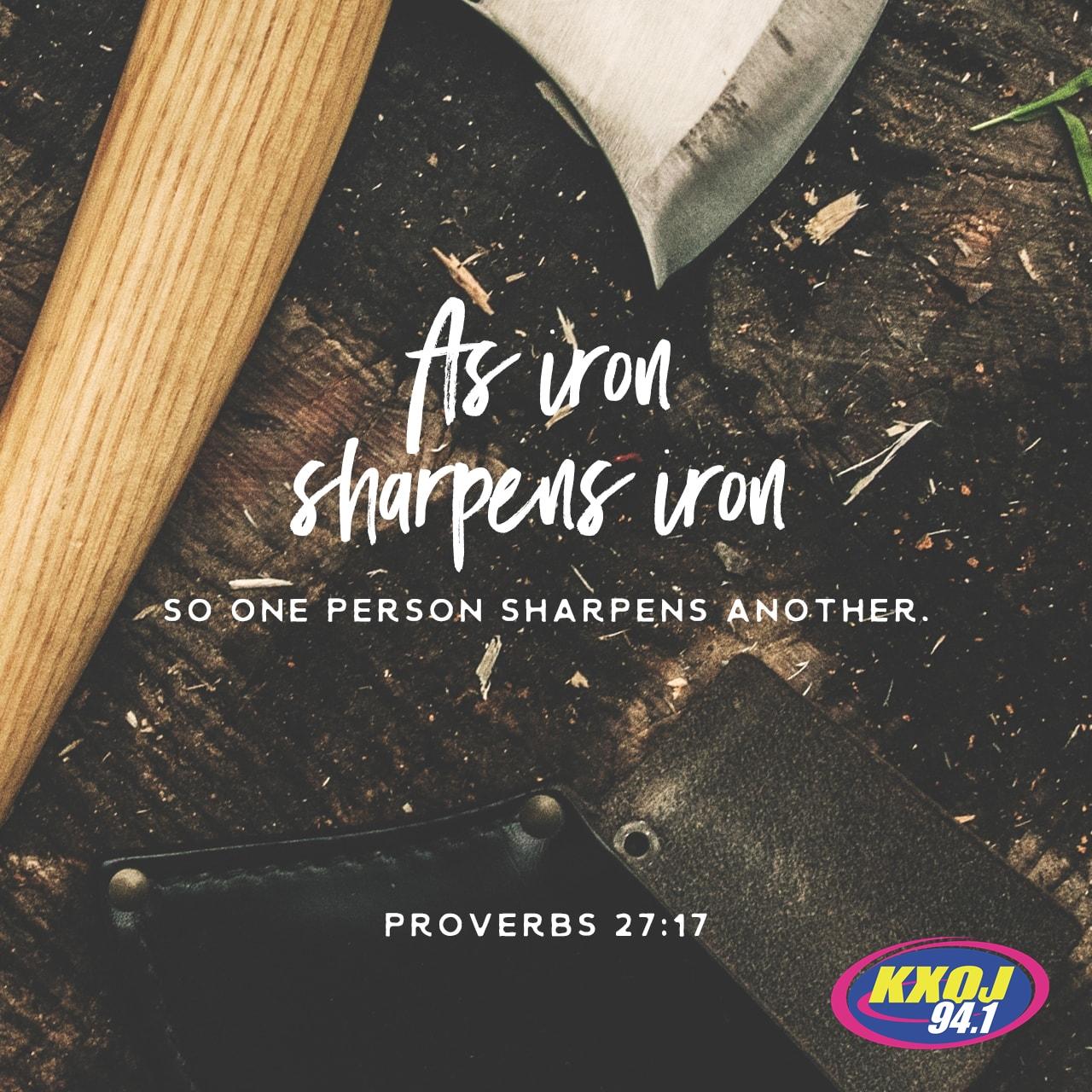 April 3rd - Proverbs 27:17