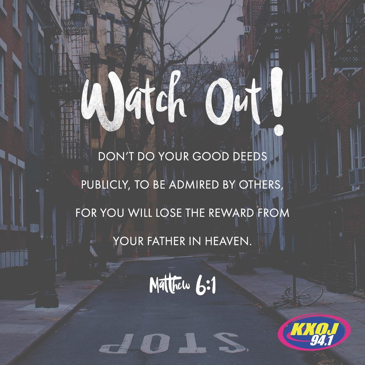 June 5th - Matthew 6:1