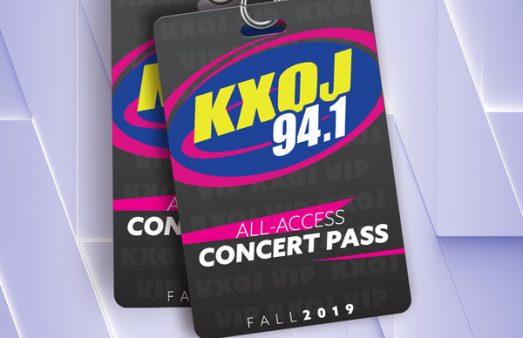 Win KXOJ's All Access Concert Pass