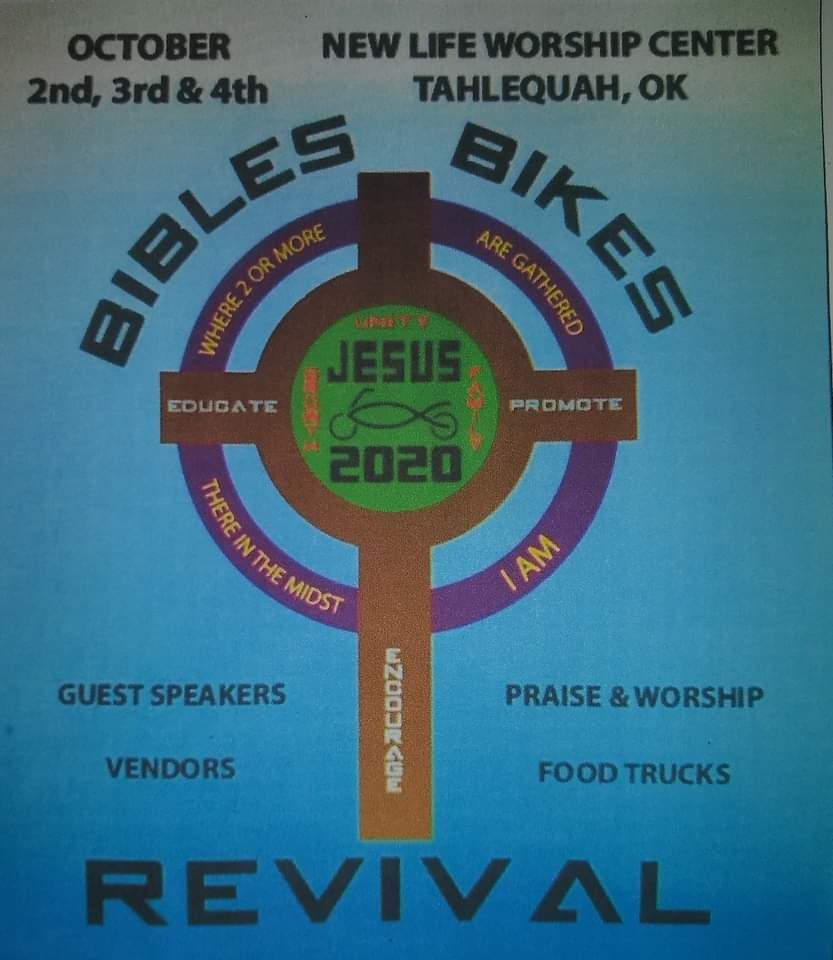 Bibles, Bikes, and Revival October 2nd-4th in Tahlequah!