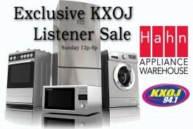 Hahn Appliance – KXOJ Listener Sale