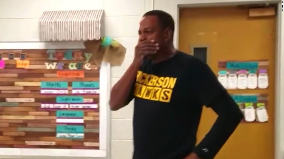 Janitor gets a big surprise!