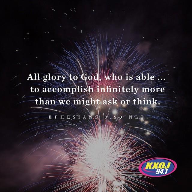 January 19th - Ephesians 3:20