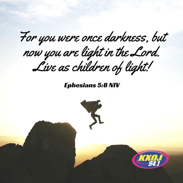 January 20th - Ephesians 5:8