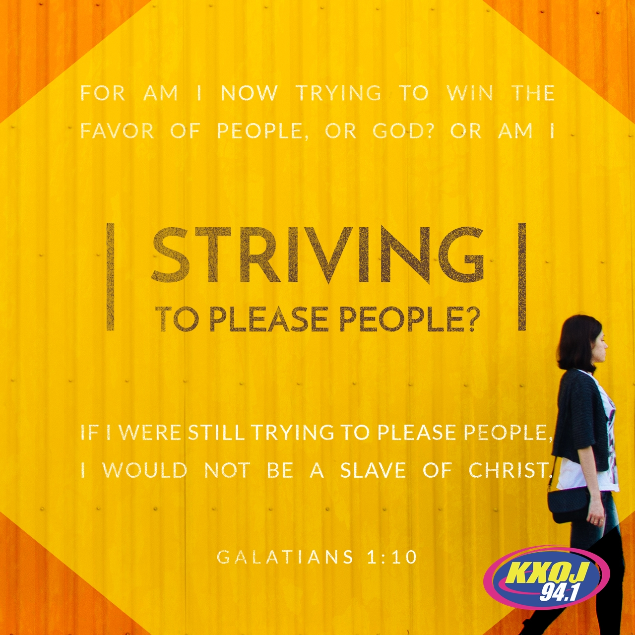 January 21st - Galatians 1:10