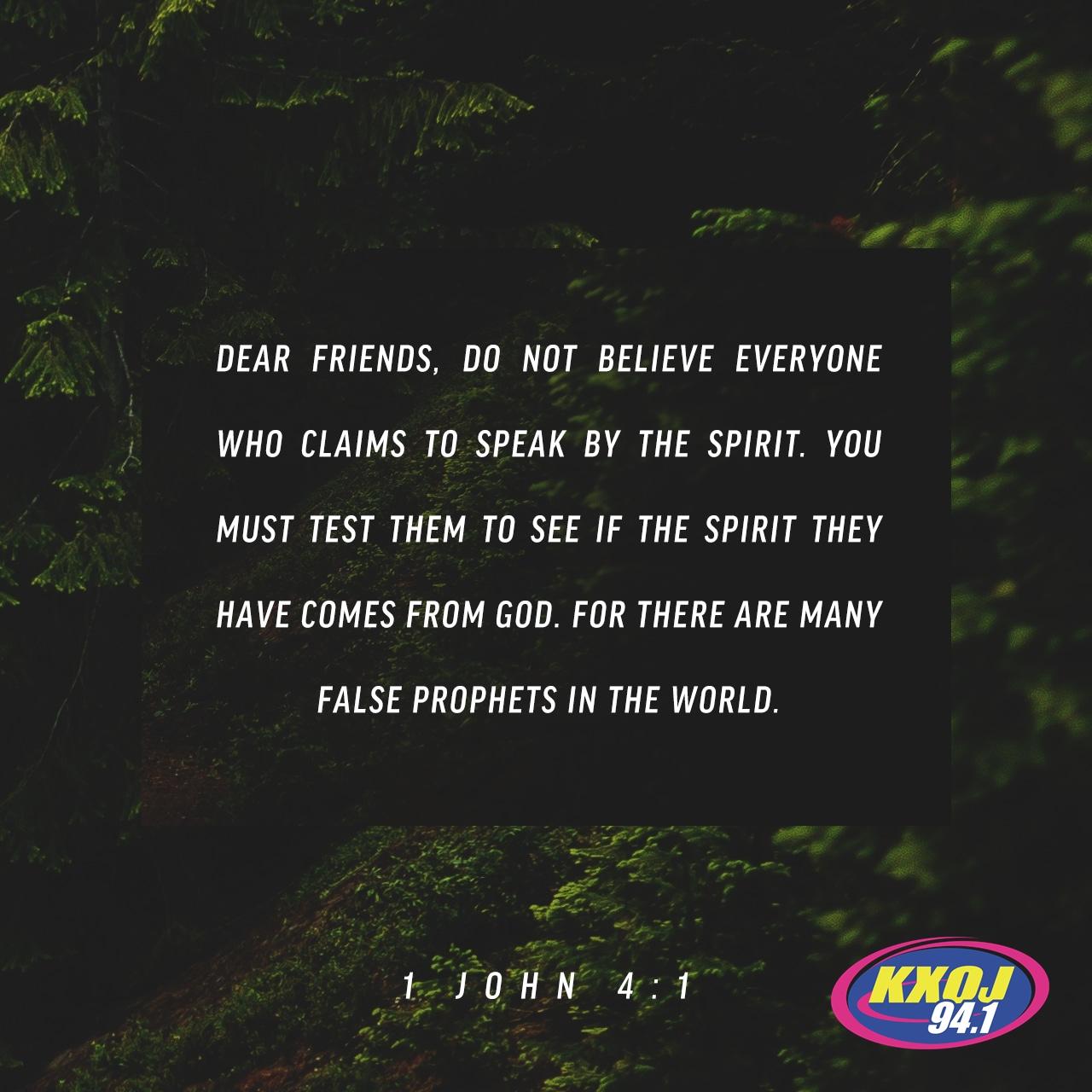 June 19th - 1 John 4:1