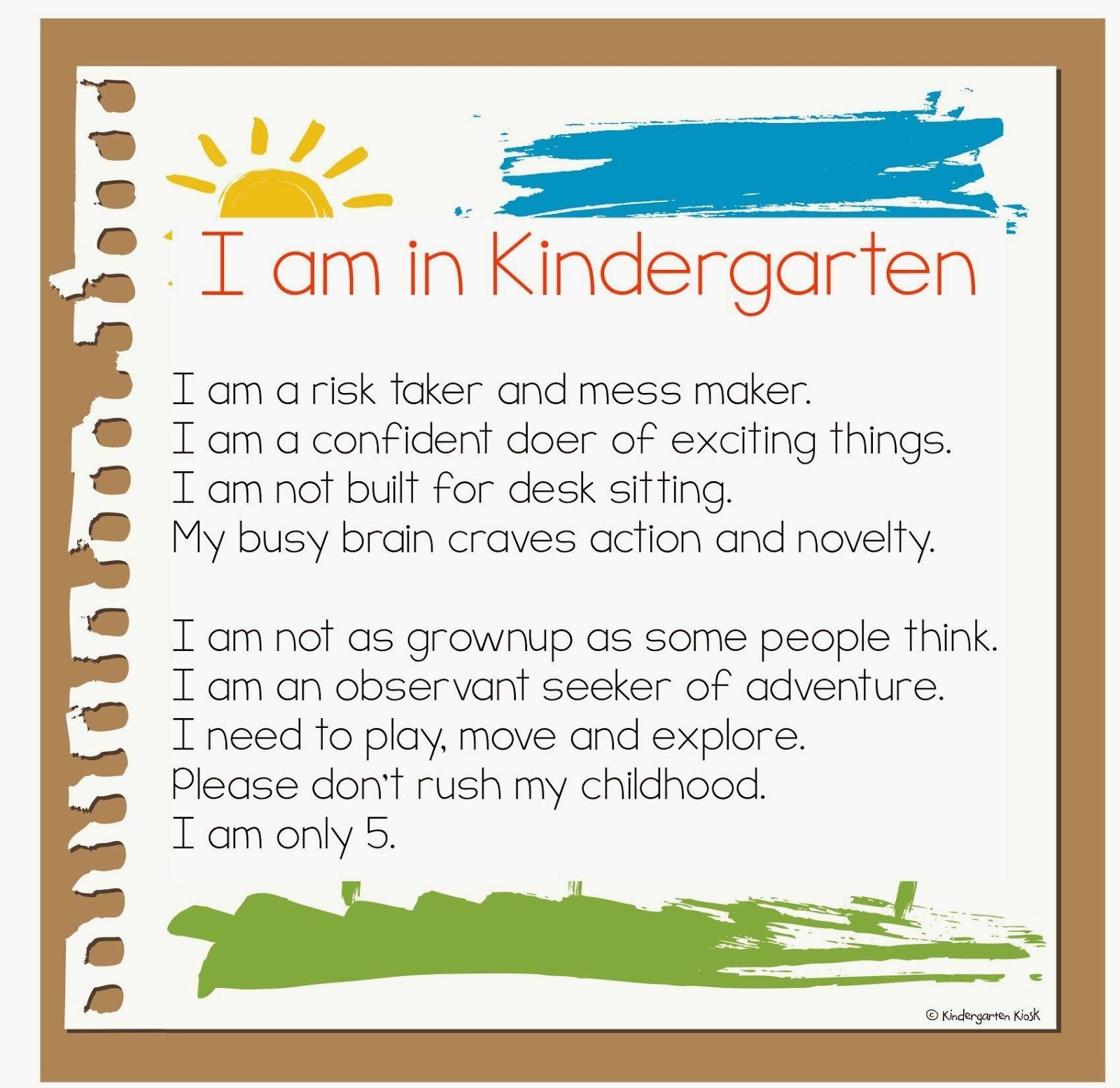Remembering you favorite Kindergarten Moments