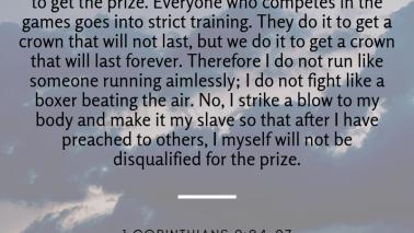1 Corinthians 9:24-27