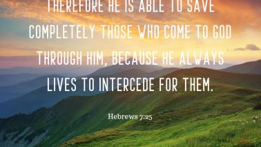 Hebrews 7:25